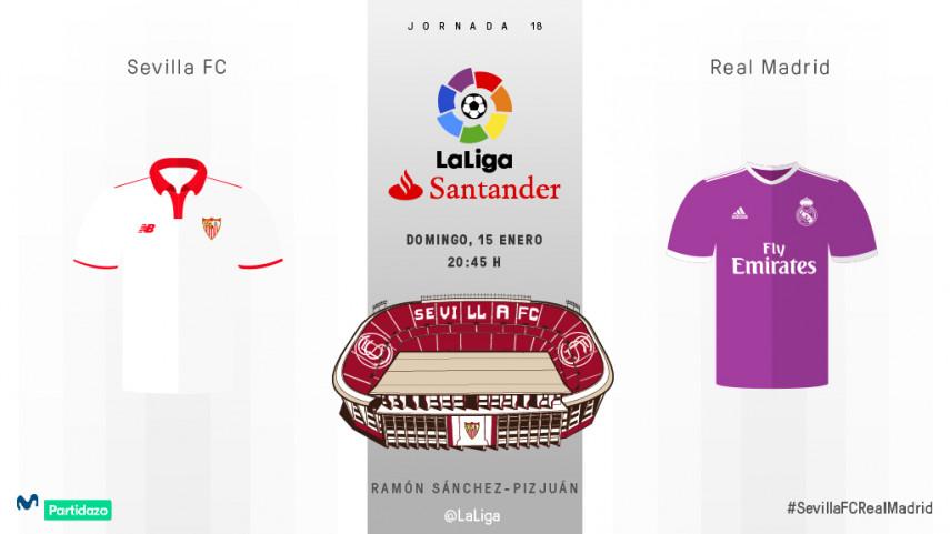 LaLiga Santander, en juego entre Sevilla FC y Real Madrid
