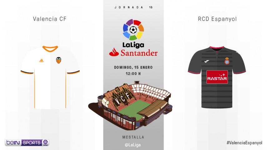 El Valencia quiere renacer ante un Espanyol con bajas
