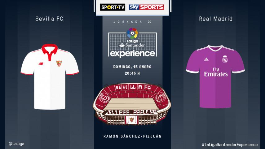 Abonados de SPORT TV, SKY SPORTS y DAZN vivirán en directo el Sevilla FC - Real Madrid