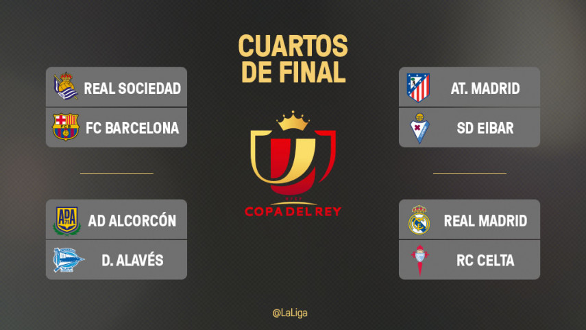 Emparejamientos de cuartos de final de Copa