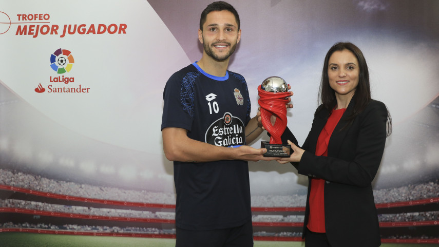 Florin Andone named LaLiga Santander Player of the Month for December