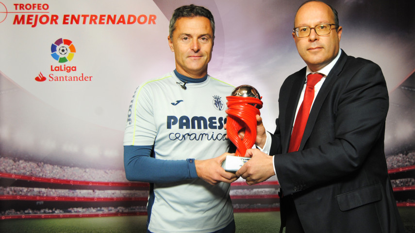 Fran Escriba named LaLiga Santander Manager of the Month for December