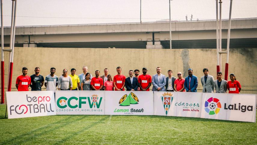 El Córdoba CF y el ayuntamiento de la ciudad concluyen su visita de promoción en India