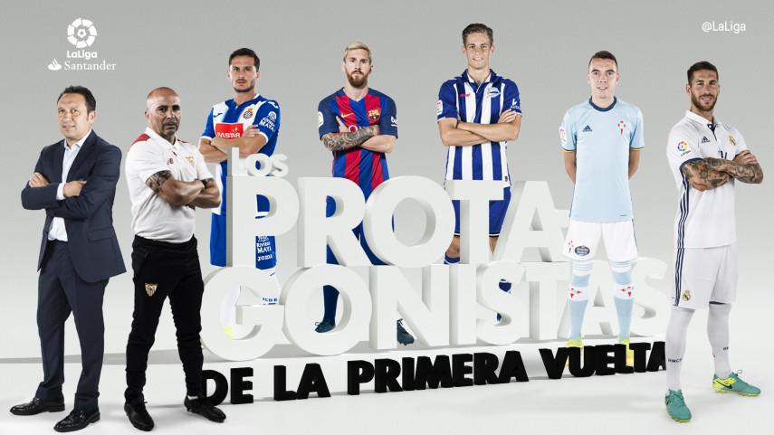 La primera vuelta de LaLiga Santander, en siete protagonistas