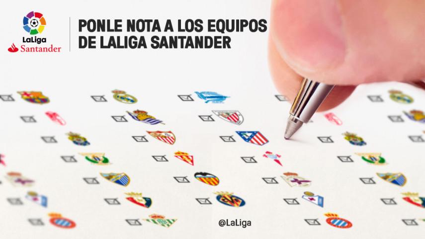 Ponle nota a los equipos de LaLiga Santander en la primera vuelta