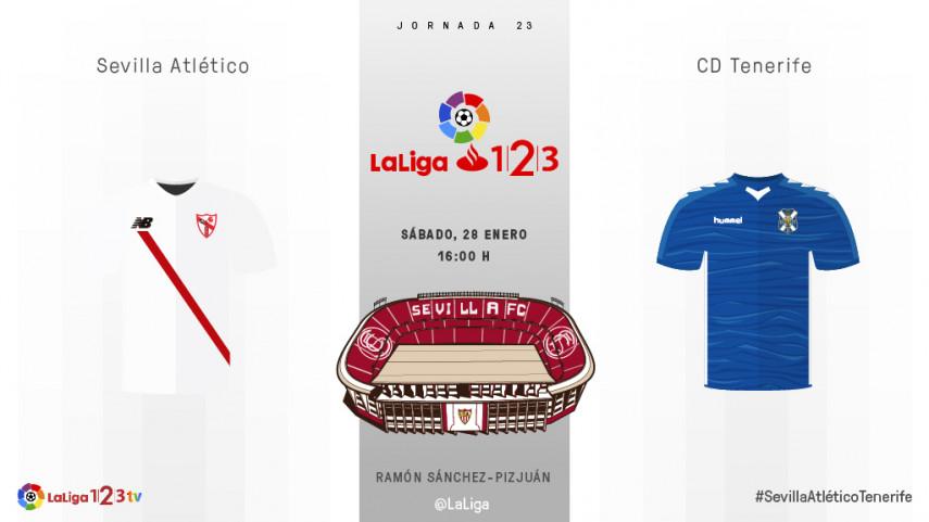 El Sevilla Atlético pone a prueba el buen momento del Tenerife