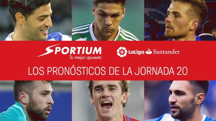 Las recomendaciones de Sportium para la jornada 20 de LaLiga Santander