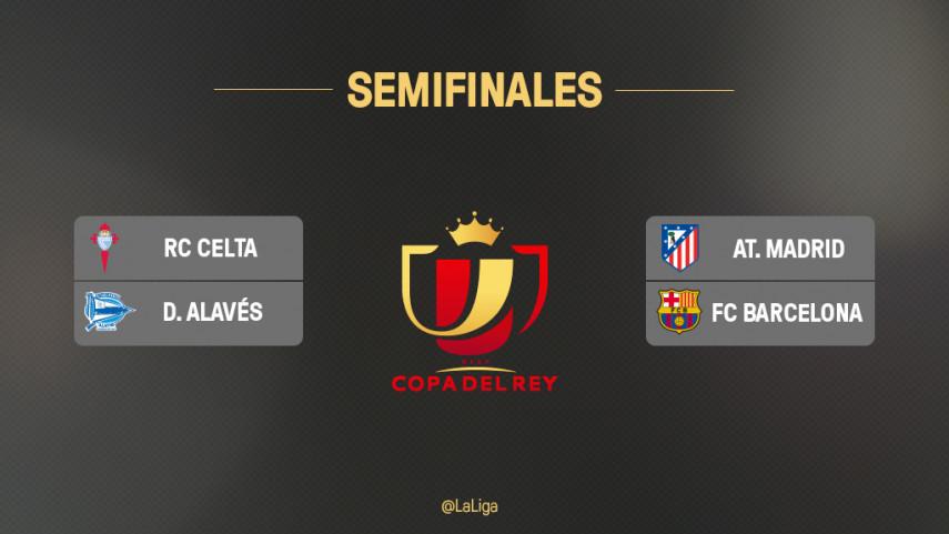 Emparejamientos de semifinales de la Copa del Rey