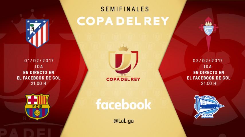 De la mano de LaLiga y MEDIAPRO, las semifinales de LaCopa, en directo, a través de Facebook