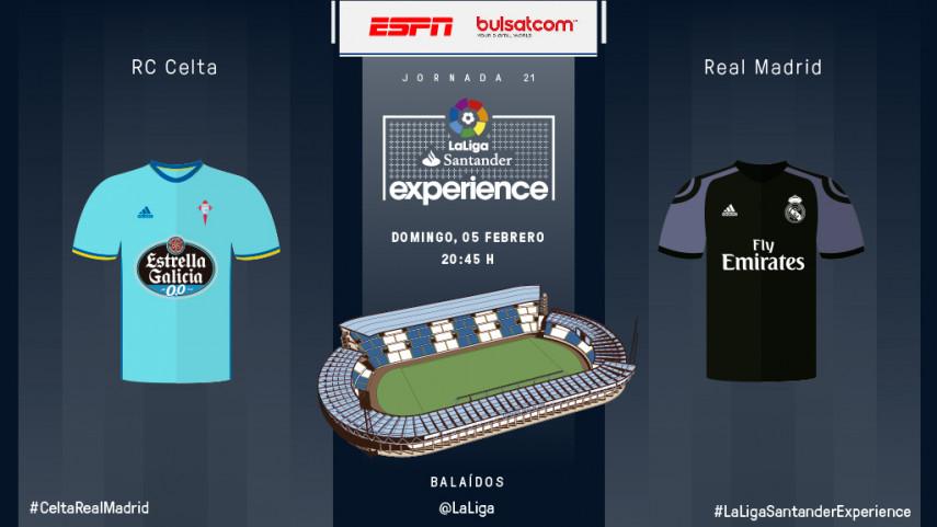 Los fans de ESPN y BG SAT vivirán en directo el RC Celta de Vigo - Real Madrid