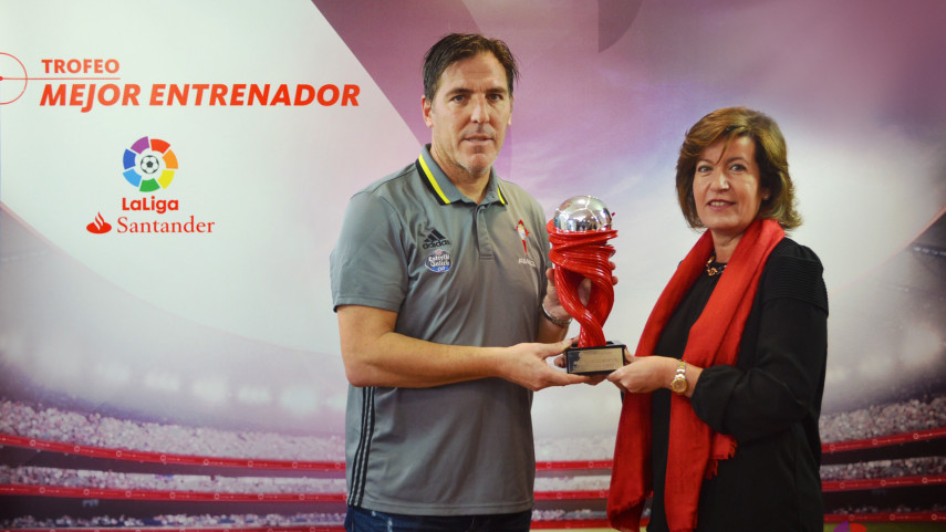 Eduardo Berizzo named LaLiga Santander Manager of the Month for January