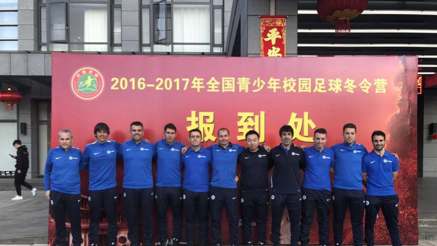 Nueve entrenadores españoles participan en el Campus 'Chinese Youth Football Winter Camp'