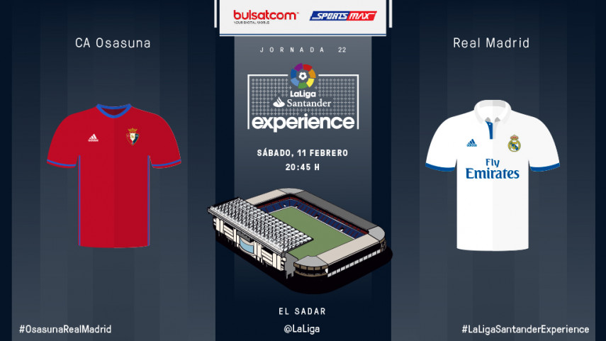 Abonados de Bulsat y SportsMax disfrutarán en vivo del CA Osasuna - Real Madrid