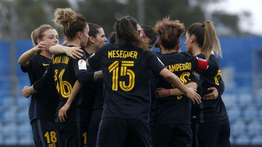 El At. Madrid sufre en Huelva para mantener el liderato de la Liga Femenina Iberdrola