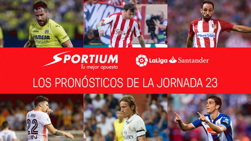 Las recomendaciones de Sportium para la jornada 23 de LaLiga Santander