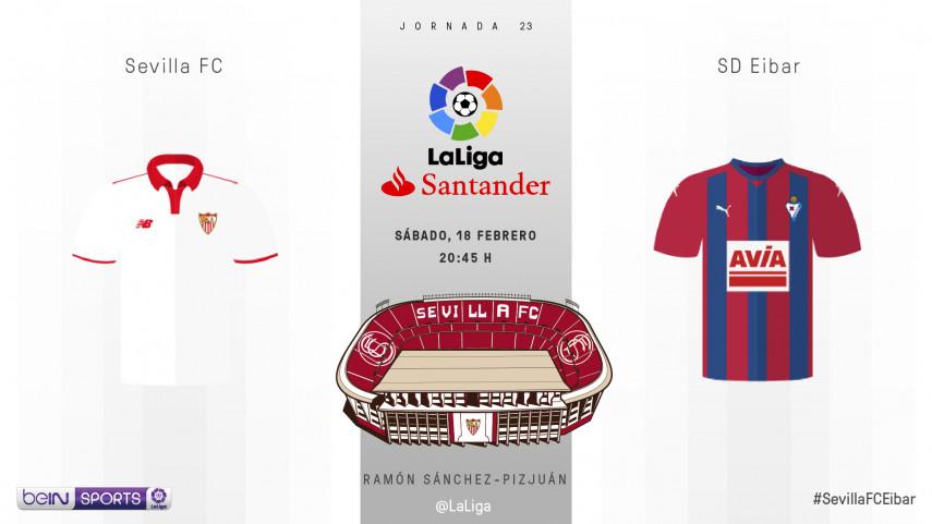 Un Sevilla histórico recibe a un Eibar lanzado