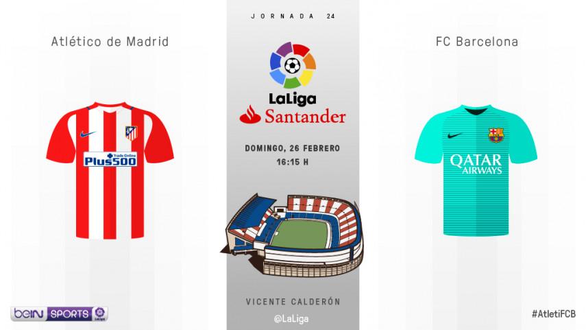 El Vicente Calderón se engalana para recibir al FC Barcelona