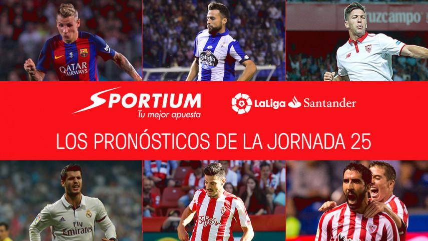 Las recomendaciones de Sportium para la jornada 25 de LaLiga Santander