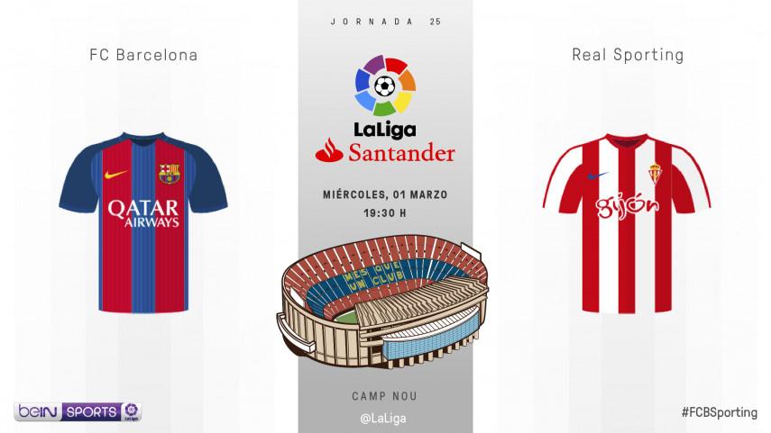 Un ambicioso Sporting quiere romper la racha del FC Barcelona