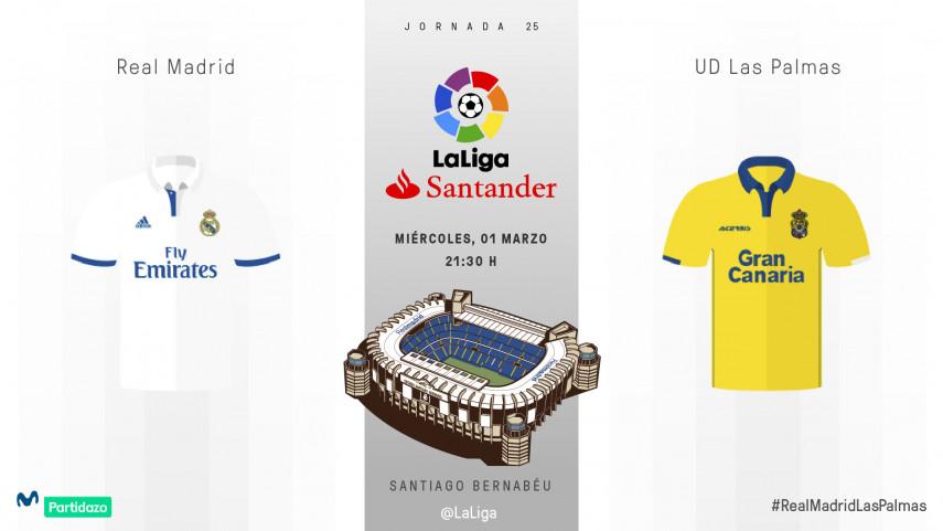 Un exigente reto para Las Palmas en el Bernabéu