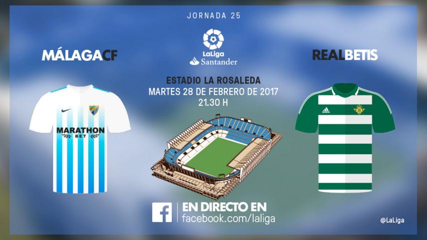 El balón parado manda en el Málaga - R. Betis
