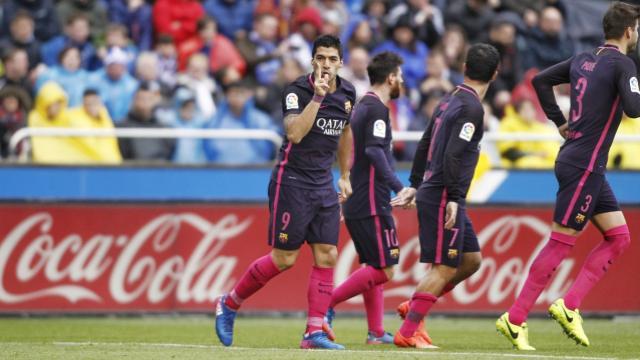 Барселона проиграла впервый раз, когда забил Суарес