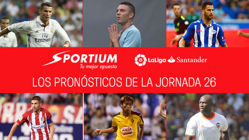 Las recomendaciones de Sportium para la jornada 26 de LaLiga Santander