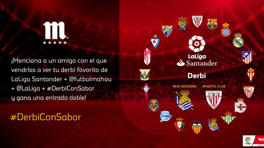 ¿Con quién quieres vivir el #DerbiConSabor de esta jornada entre Real Sociedad y Athletic Club?