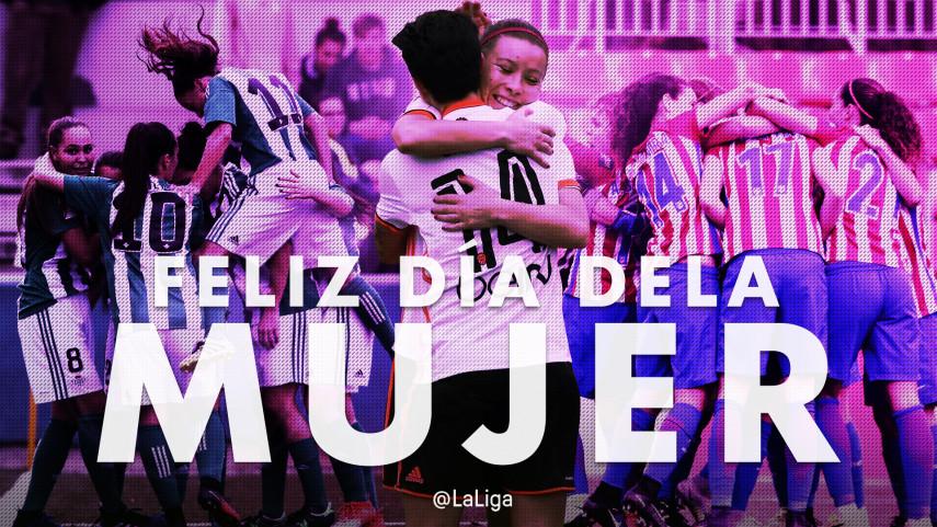 LaLiga Santander y LaLiga 1l2l3 celebran el Día Internacional de la Mujer