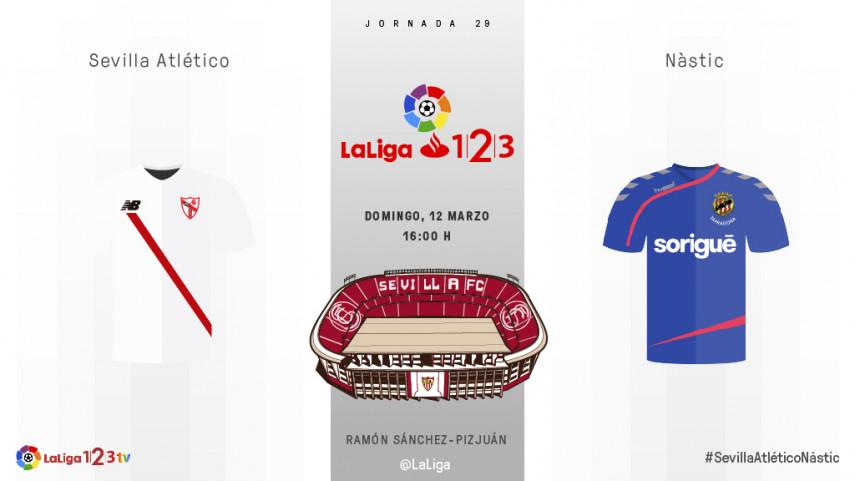 El Sevilla Atlético prueba el gran momento del Nàstic