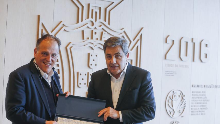 LaLiga y la Federación Portuguesa de Fútbol se reunieron en Lisboa para tratar la situación del fútbol en Europa