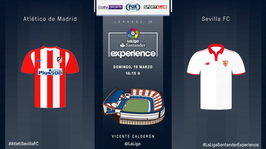 Atlético y Sevilla están listos para #LaLigaSantanderExperience con espectadores de beIN SPORTS Australia, Sportklub y FOX