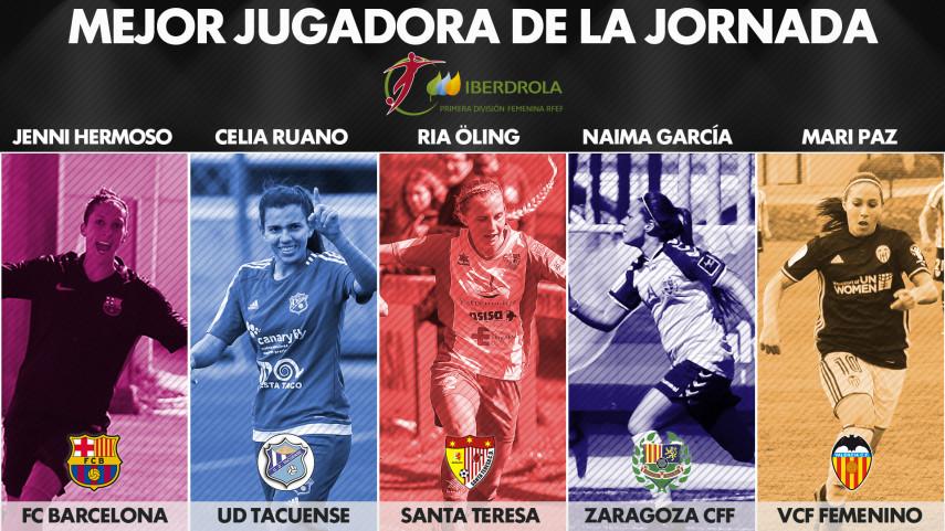 ¿Quién fue la mejor jugadora de la jornada 22 de la Liga Femenina Iberdrola?