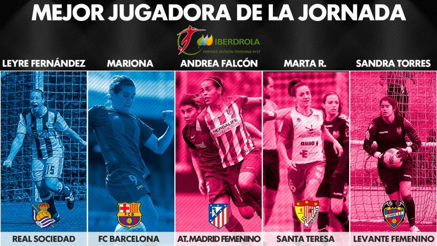 ¿Quién fue la mejor jugadora de la jornada 23 de la Liga Femenina Iberdrola?