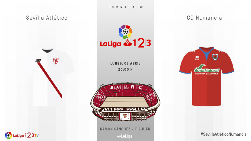 Sevilla Atlético y Numancia quieren seguir llenando el saco de la permanencia