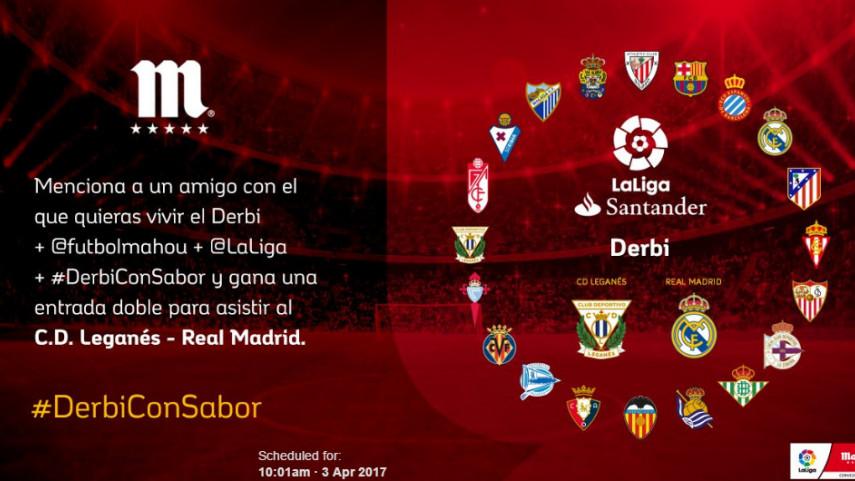 ¿Con quién quieres vivir el #DerbiConSabor de esta jornada entre CD Leganés y Real Madrid?