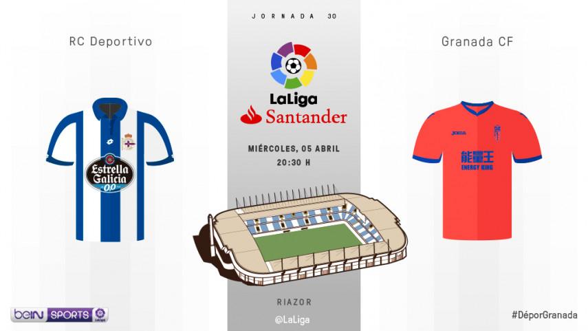 Partido trascendental para Deportivo y Granada