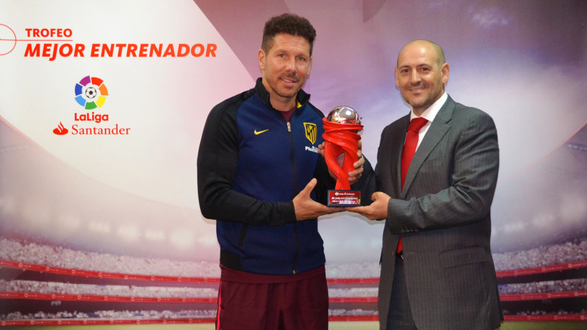 Diego Simeone named LaLiga Santander Manager of the Month for March