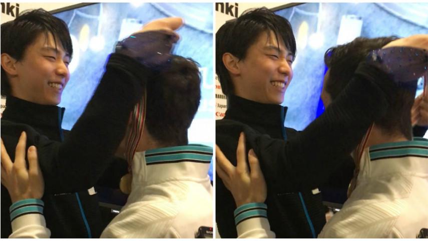 Yuzuru Hanyu, un gesto de campeón
