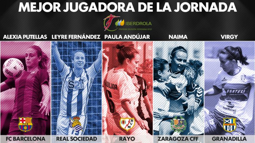 ¿Quién fue la mejor jugadora de la jornada 25 de la Liga Femenina Iberdrola?