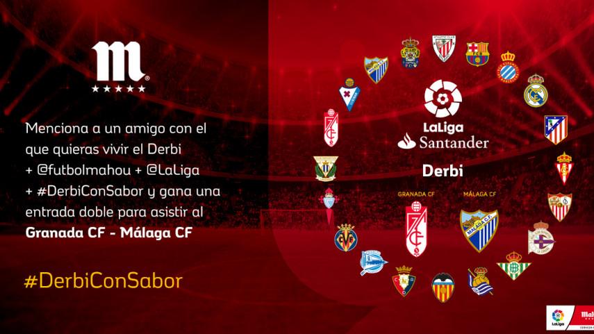 ¿Con quién quieres vivir el #DerbiConSabor entre Granada CF y Málaga CF de la jornada 35?