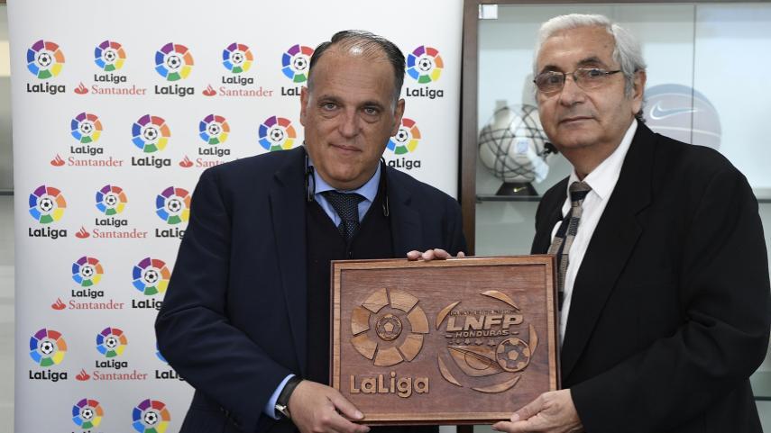 LaLiga firma un acuerdo con la Liga Nacional de Fútbol Profesional de Honduras para desarrollar el fútbol profesional del país