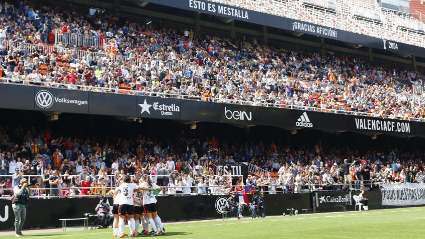 17.000 espectadores presenciaron en Mestalla el VCF Femenino - Levante UD