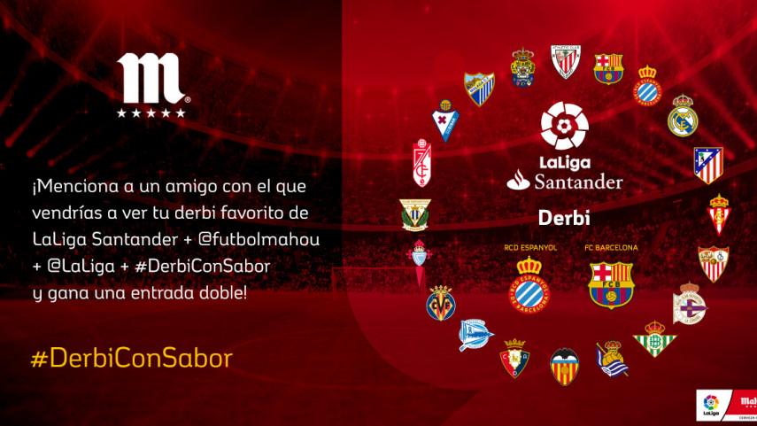 ¿Con quién quieres vivir el #DerbiConSabor en el RCD Stadium de la jornada 35?