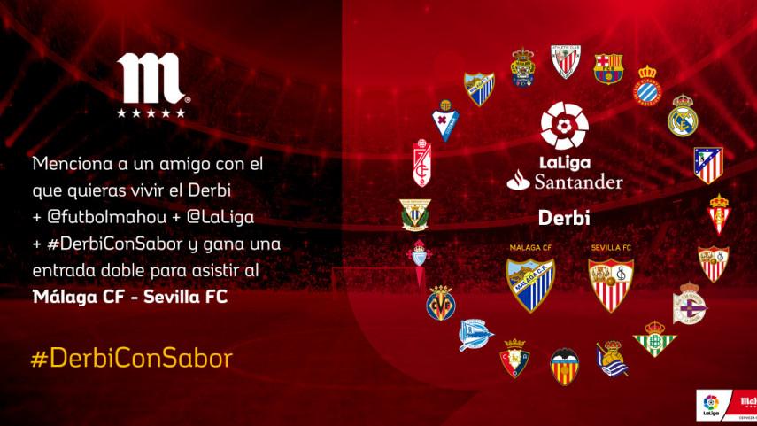 ¿Con quién quieres vivir el #DerbiConSabor entre Málaga CF y Sevilla FC de la jornada 35?