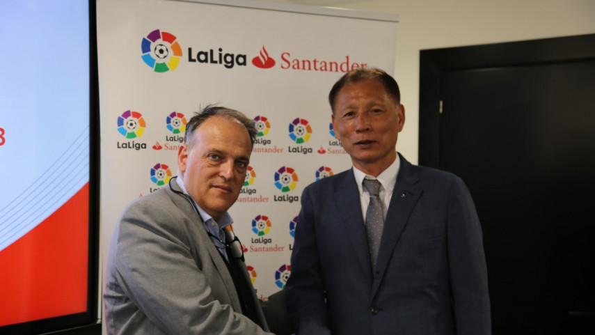 LaLiga recibe en su sede a una delegación de la Liga de Japón