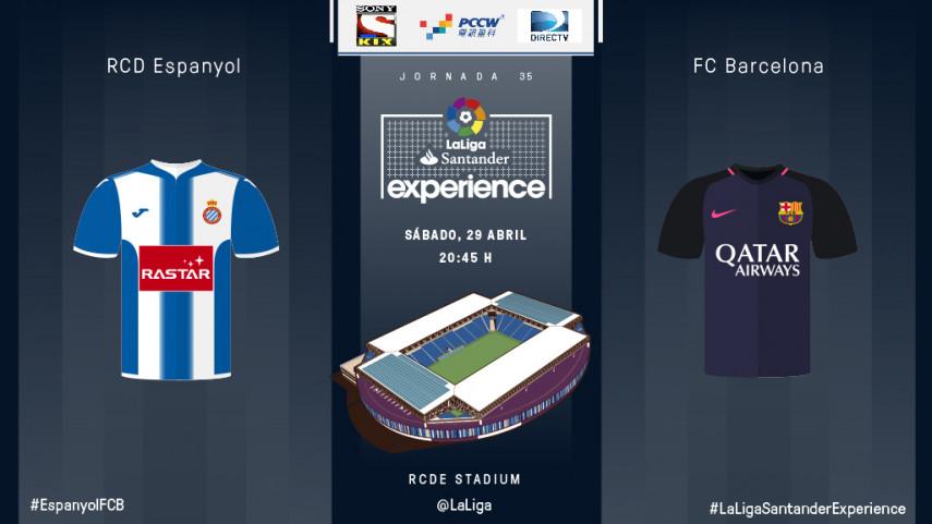 El derbi de Barcelona, listo para #LaLigaSantanderExperience con espectadores de DIRECTV, PCCW y SONY