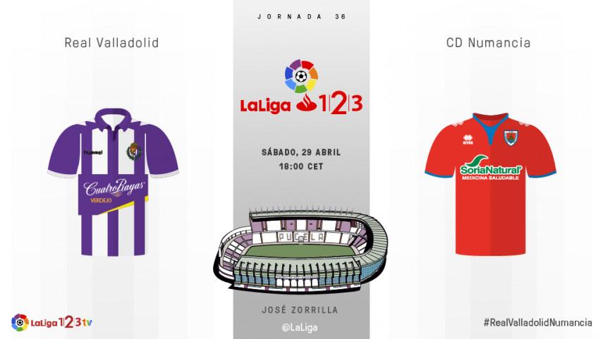 Valladolid y Numancia quieren subirse al tren de play-off