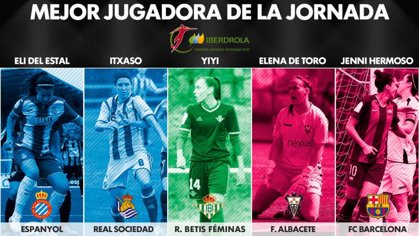 ¿Quién fue la mejor jugadora de la jornada 27 de la Liga Femenina Iberdrola?