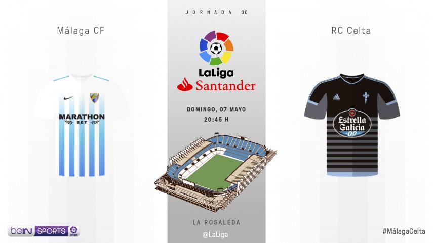 Sandro vs Aspas, duelo de goleadores españoles en La Rosaleda